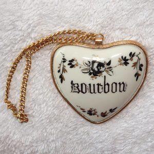 Limoges Vintage Bourbon Decanter Tag & Label   EUC